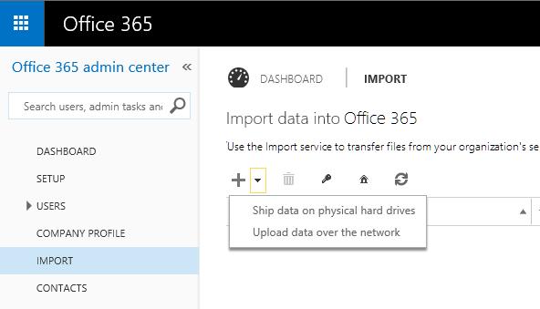 office 365 admin center
