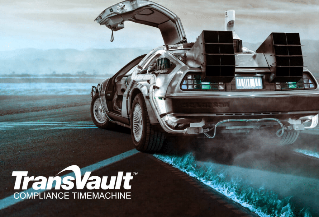compliance time machine transvault