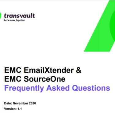 EMC EmailXtender & SourceOne email archive migration FAQ