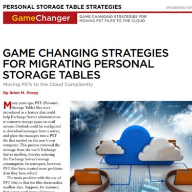 Migrating PSTs Report