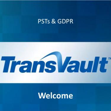 PSTs and GDPR Webinar