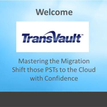 Migrating PSTs to Office 365