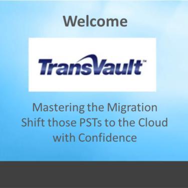 Mastering PST migration webinar