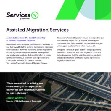Image of Transvault Assisted Migration Datasheet
