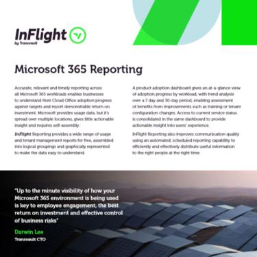 Image of Transvault InFlight Reporting Datasheet
