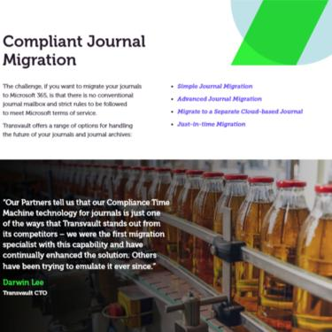 Image of Transvault Journal Datasheet