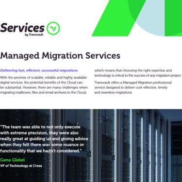 Image of Transvault Managed Migrations Datasheet