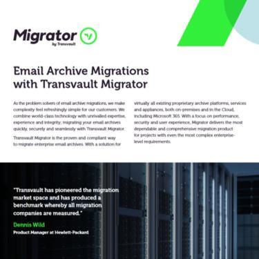 Transvault Migrator Datasheet image