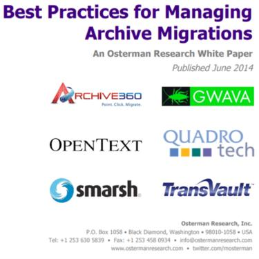 Best Practices for Managing Archive Migrations white paper